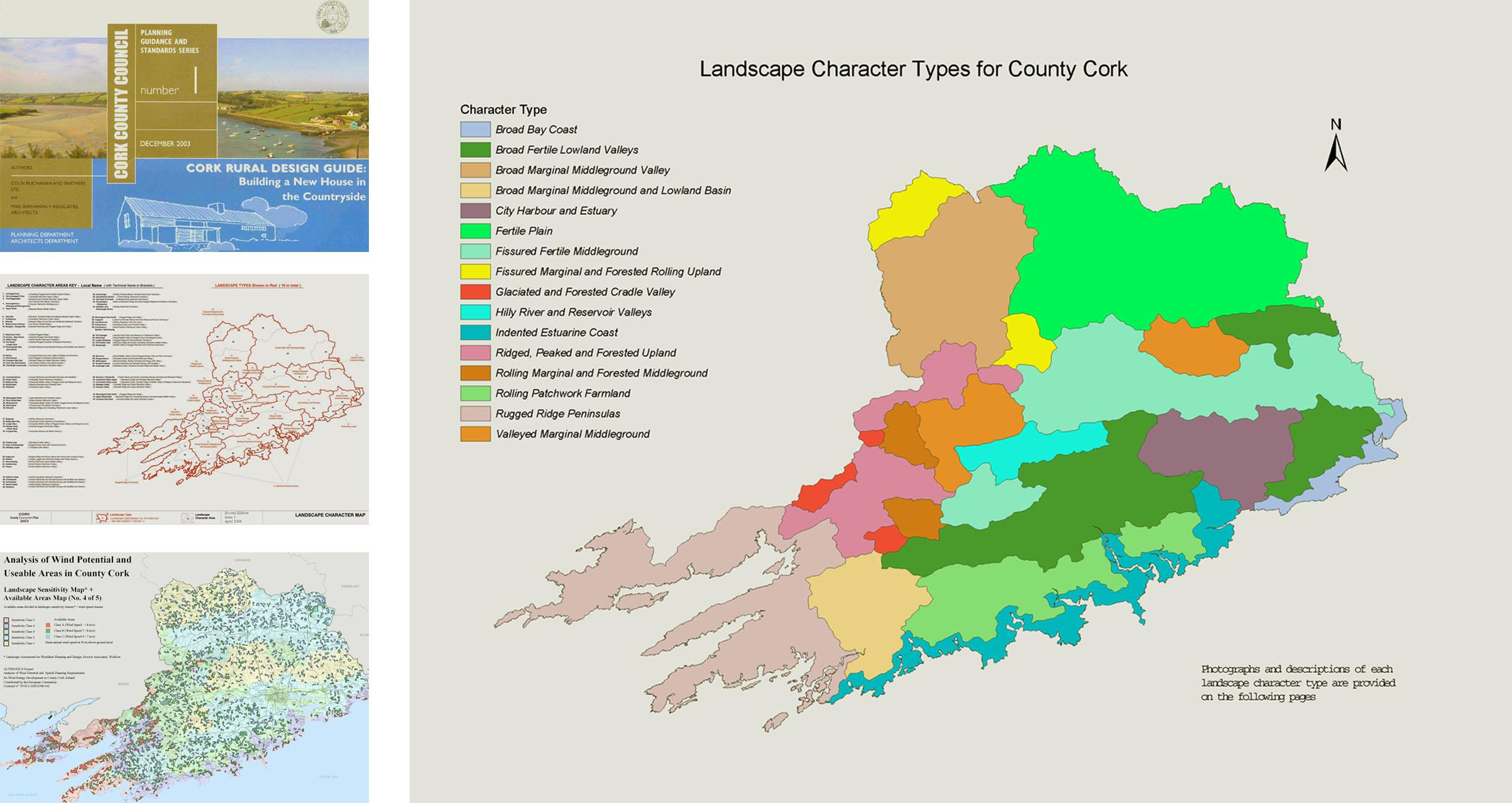 Map Of Cork County Ireland.Landscape Character Assessment Lca Mosart